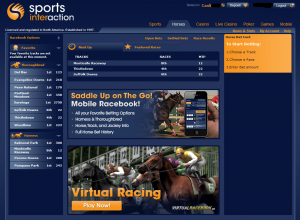 Sports Interaction Racebook Layout